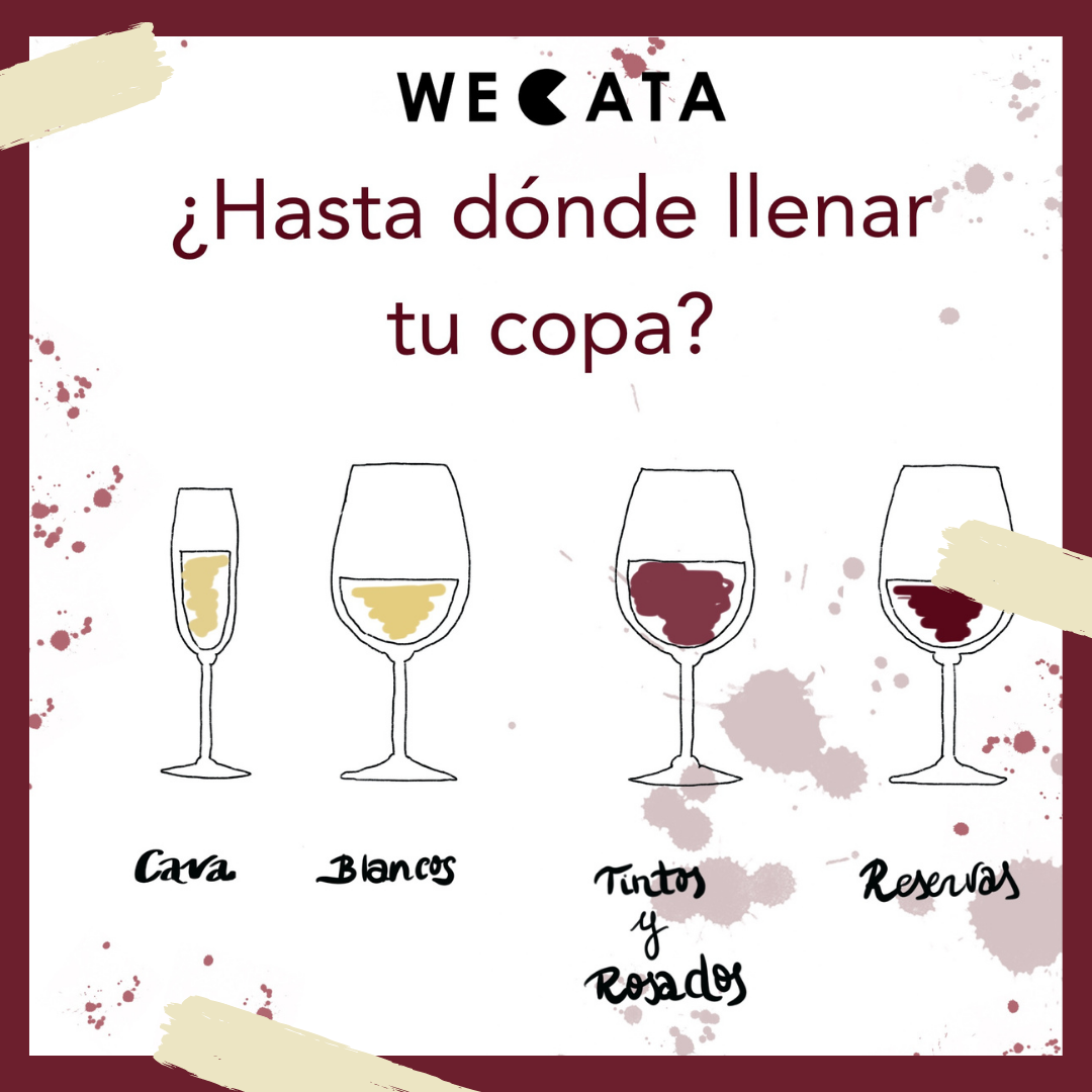 Llenado de copas vino